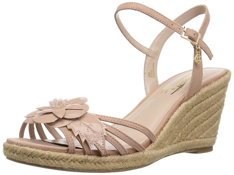 Nanette Lepore Women's Quince Wedge Sandal B07739X16Z 9 B(M) US|Dusty Pink
