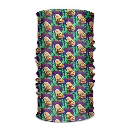 Unisex Vintage Burritos Taco Multifunction Bandana Headband ...