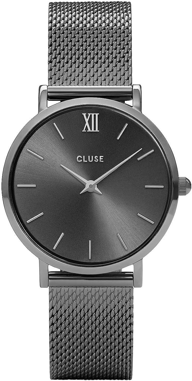 CLUSE Reloj Analógico para Mujer de Cuarzo con Correa en Acero Inoxidable CL30067