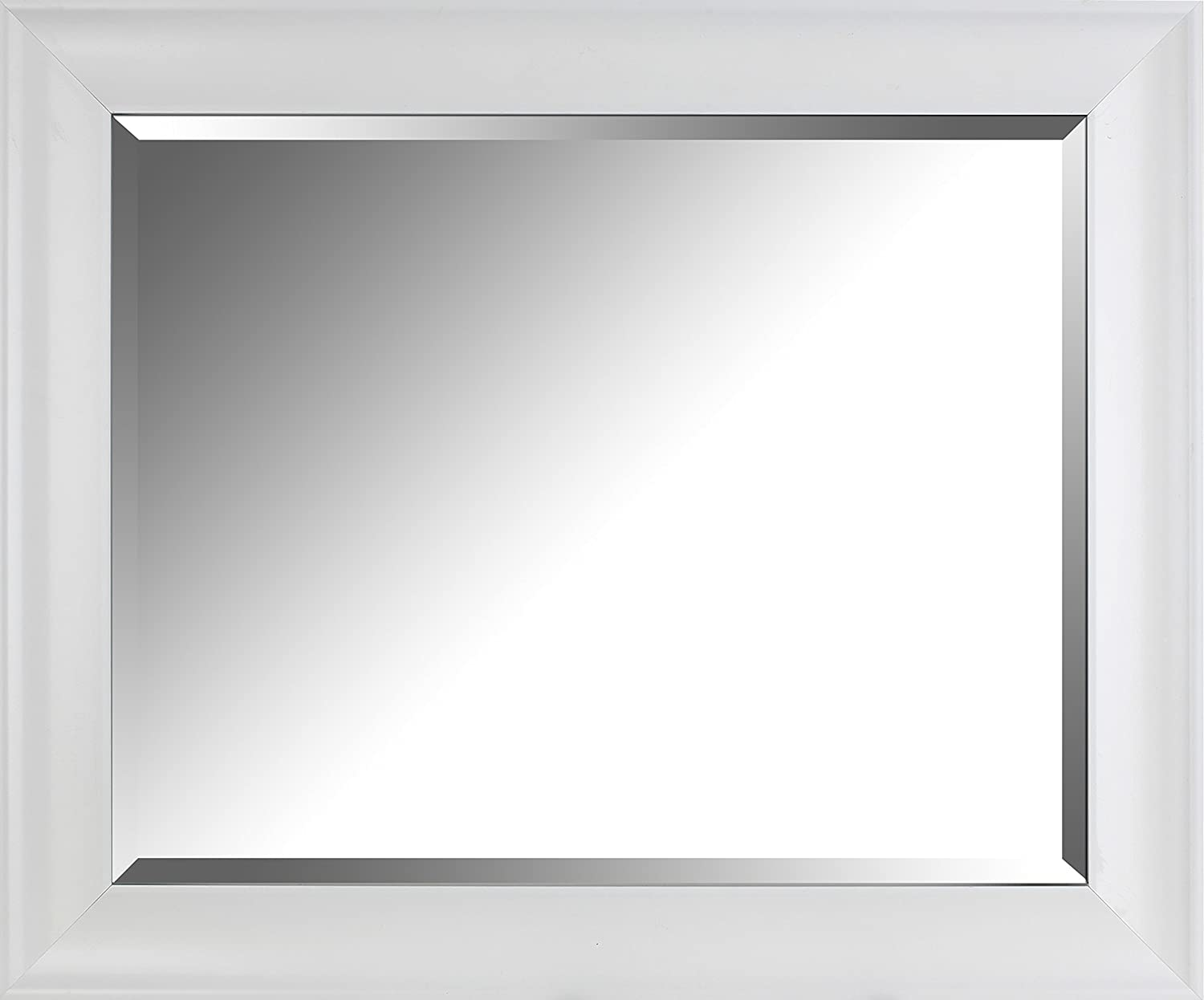 Outlet SALE Mirrorize Cafe Bargain Bevel Wall 28.5x34.5x3.25 White Mirror