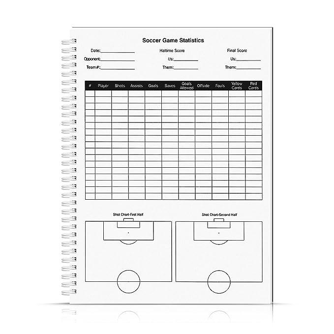 AGPTEK Cuaderno para Entrenador de Fútbol (A4, 100 Páginas), Libros de Puntuaciones Contiene 3 Plantillas de Táctico Diseño y Plantillas de Registrar ...