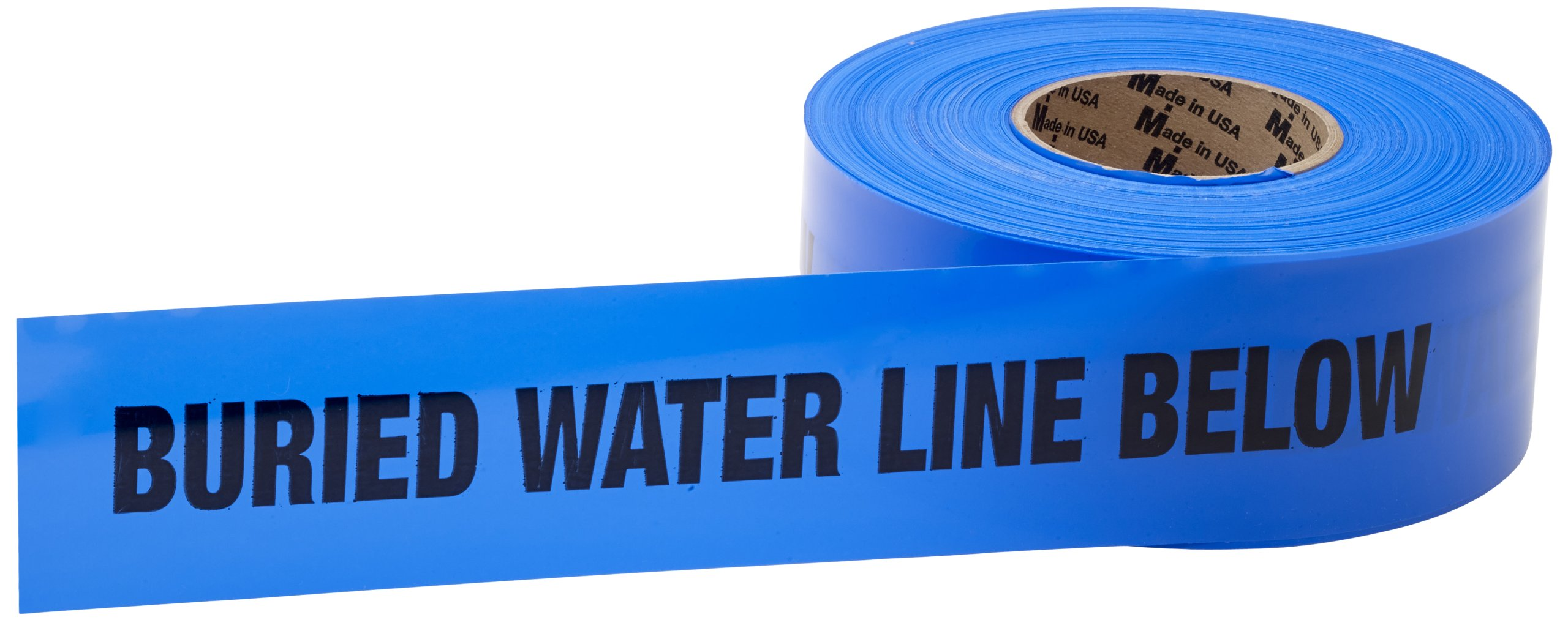 Mutual 17783 Polyethylene Non Detectable Underground Water Line Marking Tape, 4.5 mil Thickness, 1000' Length x 3'' Width, Blue