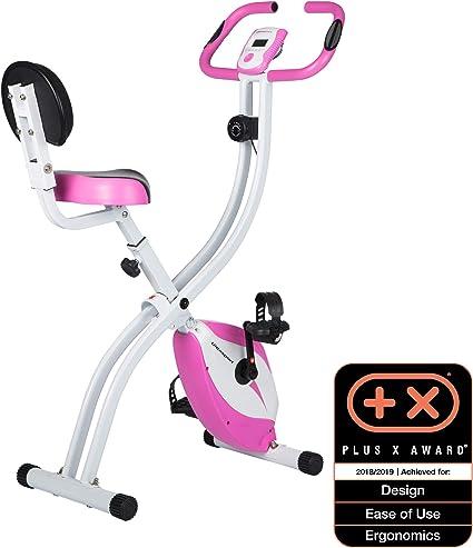 Ultrasport Bicicleta de ejercicio Unisex F-Bike, pantalla LCD, entrenador casero plegable, optati...