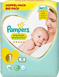Pampers Premium Protection 81687010 Nappies White