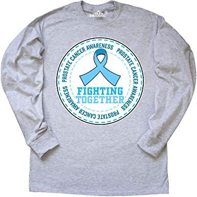 f81f3565 inktastic - Fighting Together- Prostate Long Sleeve T-Shirt Small Ash Grey  32194