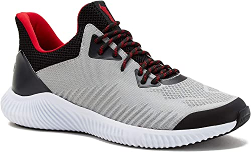 Avia Mens Runner Shoes 2.0 with Endurance Comfort Lite Footbed Gray, Black and Red (9.5 M): Amazon.es: Zapatos y complementos