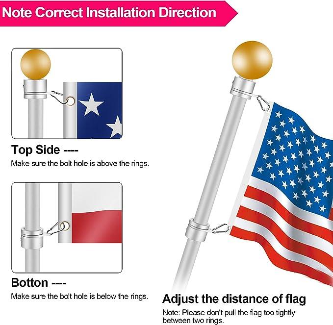 LOCGFF 21in Telescopic Flag Pole 360/° Rotating Alloy Steel Multi-Functional Baseball Bat Belt Portable Stick Cover