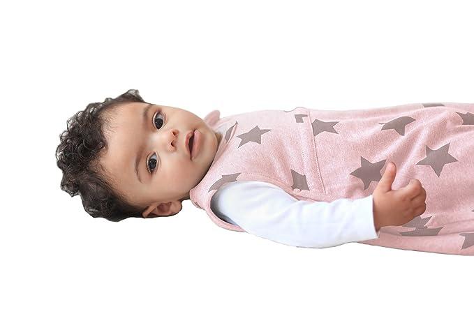 Merino Kids Saco de Dormir Noche Estrellada para Bebés de 0-2 Años, Dusky Pink: Amazon.es: Ropa y accesorios