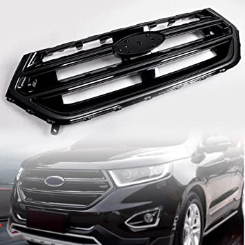 Amazon Com Motorfansclub Front Grille Bumper For Ford Edge  Hood Mesh Grill With Sport Version Camera Hole Black Automotive