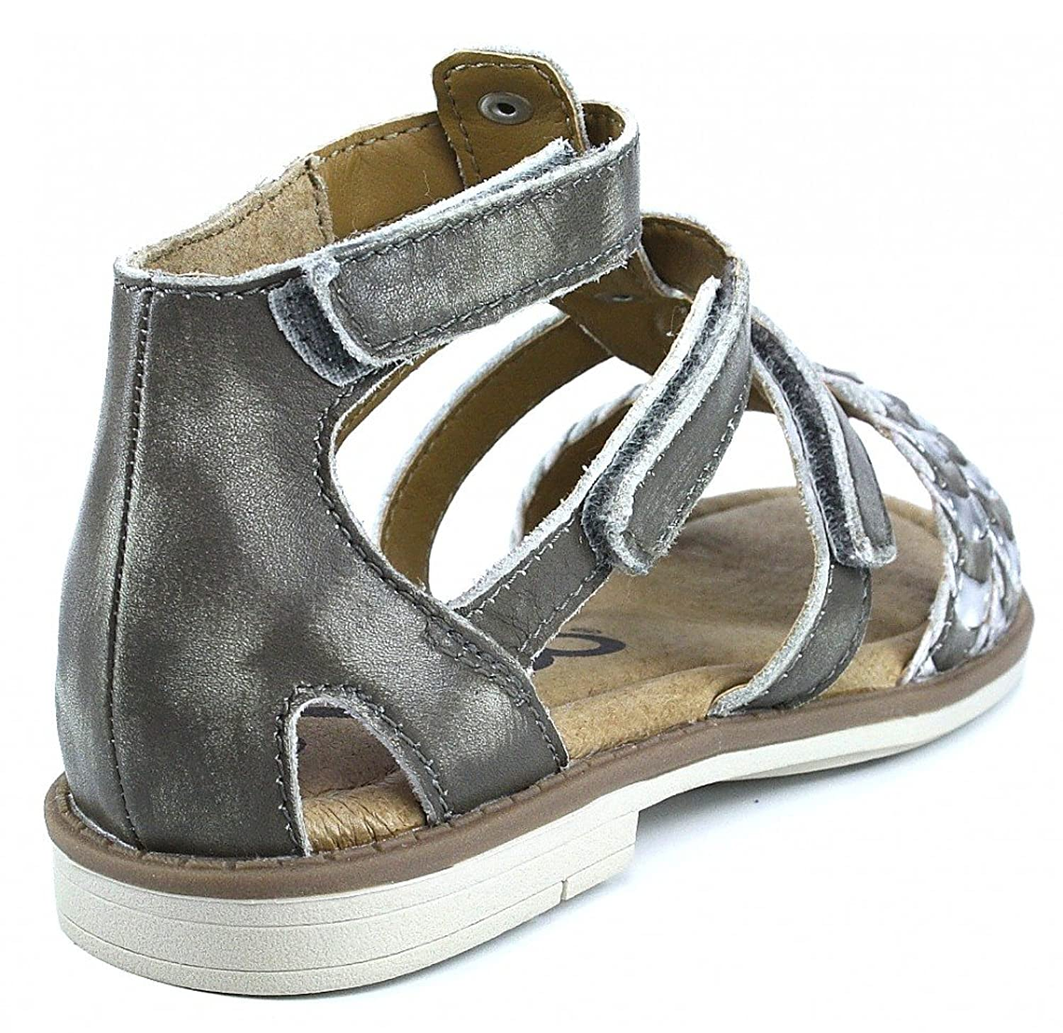 Vado Cleo sandal mud Brown / Velcro straps Brown Size: 2: Amazon.co.uk:  Shoes & Bags