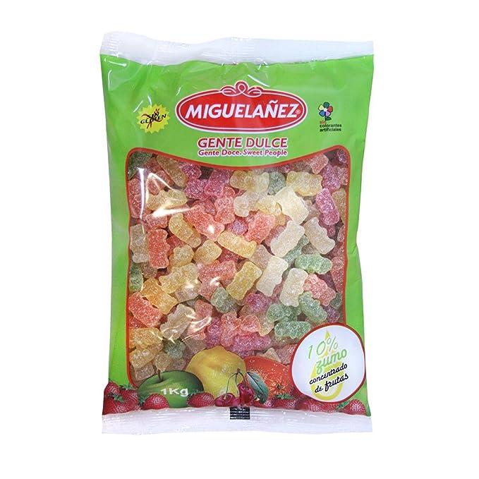 Miguelañez Bolsa Caramelos de Goma Ositos Azúcar con 10% de Zumo ...