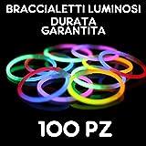 Braccialetti Fluorescenti Starlight Glowstick Disco, 100 Pezzi