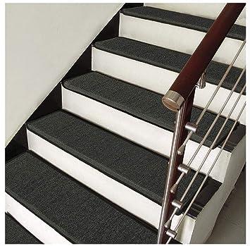 Farbe : A, gr/ö/ße : 65x24+3 EIN Satz Mehrere Gr/ö/ßen mehrere Farben ZSJ fat pig Treppenstufenmatte Selbstklebende Treppenmatte verschlei/ßfeste Stilvolle Rutschfeste