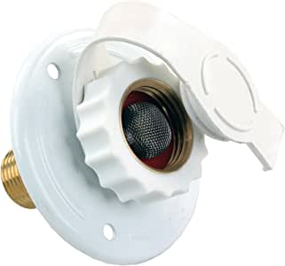 """JR Products 62165 White Aluminum City Water Flange - 12"""" MPT x 3/4"""""""