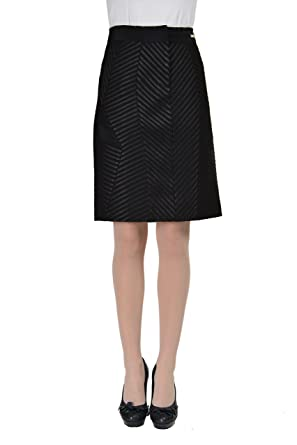 1e4ed8b983 Amazon.com: Just Cavalli Women's Black Pencil Straight Skirt US 4 IT ...