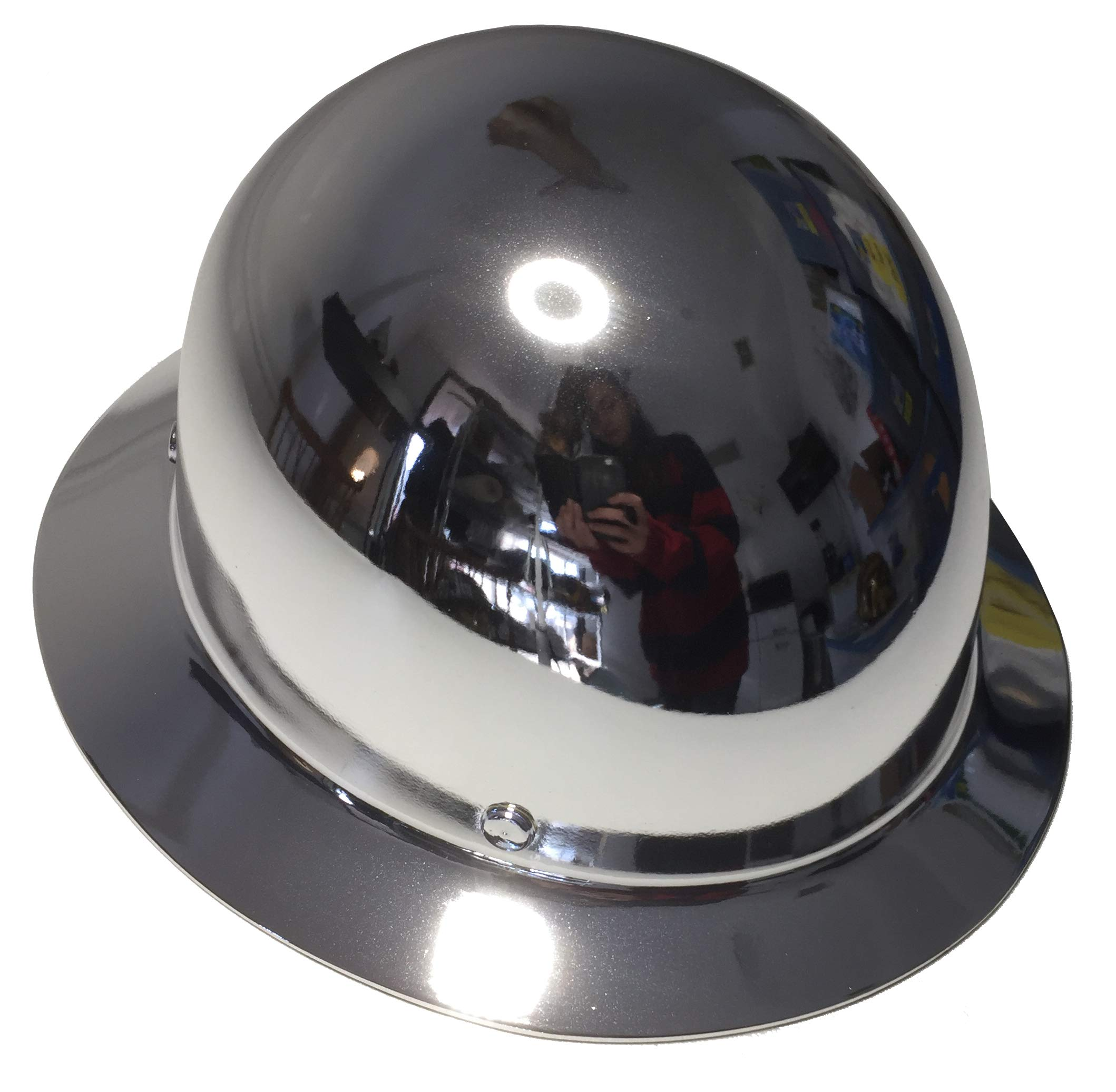 Hard Hat MSA Skullgard Full Brim Custom Chrome