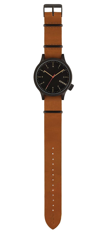 Komono Reloj Analógico de Cuarzo Unisex con Correa de Cuero - KOM-W1901: Amazon.es: Relojes