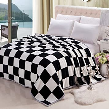 Amazon.com: Wangs manta de franela manta de sofá cama felpa ...