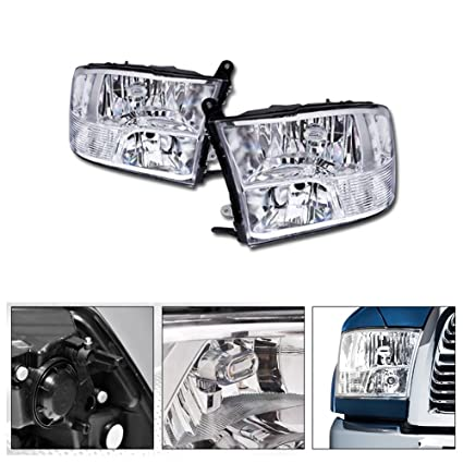 09-18 Dodge Ram 1500 2500 3500 Quad Style Black Headlights Corner Signal Lamps