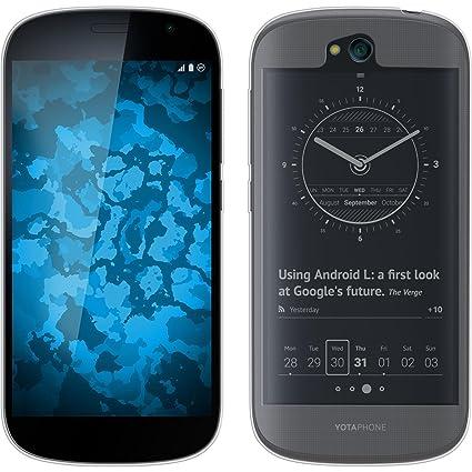 morbido e leggero ultima moda vendita a buon mercato usa PhoneNatic Custodia Yota Yotaphone 2 Custodia in Silicone con 2 Pellicole  Trasparente