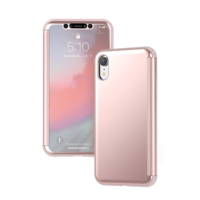 wholesale dealer 0cceb a9343 Moshi StealthCover Portfolio Case Compatible with iPhone XR, Wireless  Charging, Screen Protector (Pink)