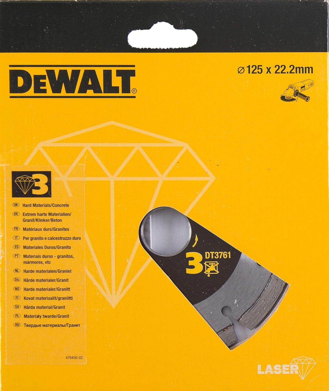 125mm Argent Dewalt DT3761-XJ DT3761-XJ-Disco de Diamante 125x22.2mm