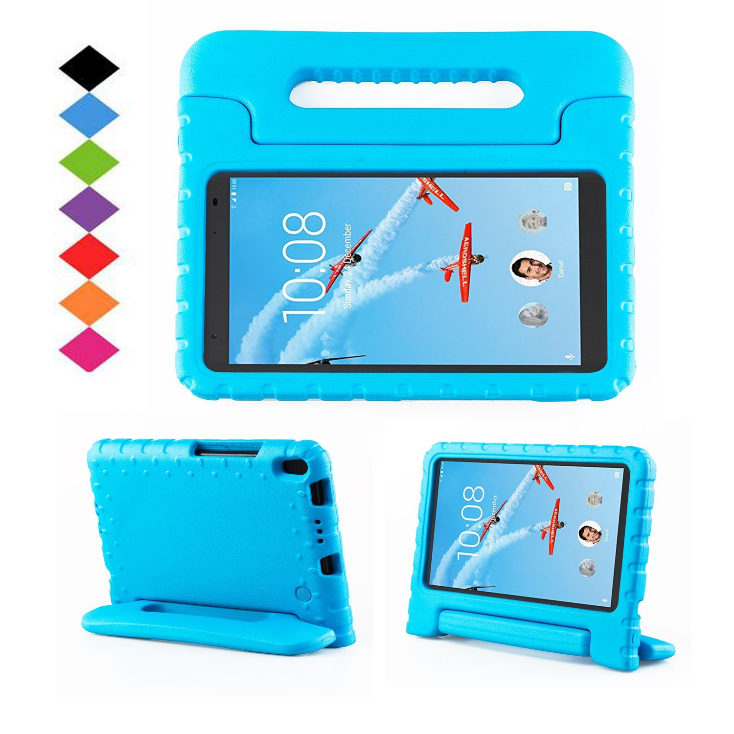 TIRIN Lenovo TAB 4 8 Plus Case- Light Weight EVA Shock Proof Convertible Handle Stand Case Cover for Lenovo TAB 4 8 Plus Tablet (2017 Release), Orange