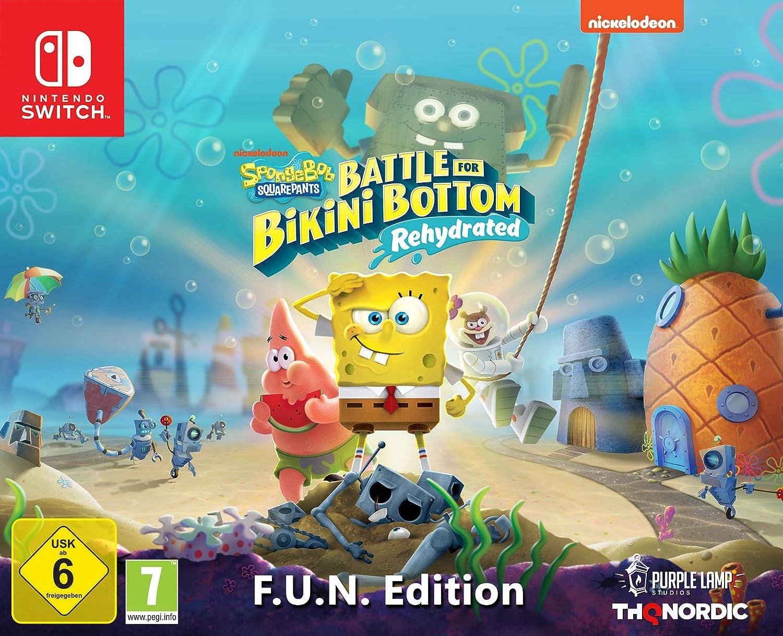 Spongebob SquarePants: Battle for Bikini Bottom Rehydrated - Edición F.U.N (Nintendo Switch): Amazon.es: Videojuegos