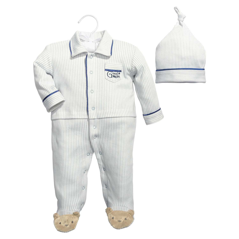 Baby Dumpling Hush Little Baby Boy's Sleep and Play Gift Set, Blue/White, 6-9 Months C.R. Gibson 109-B5M9