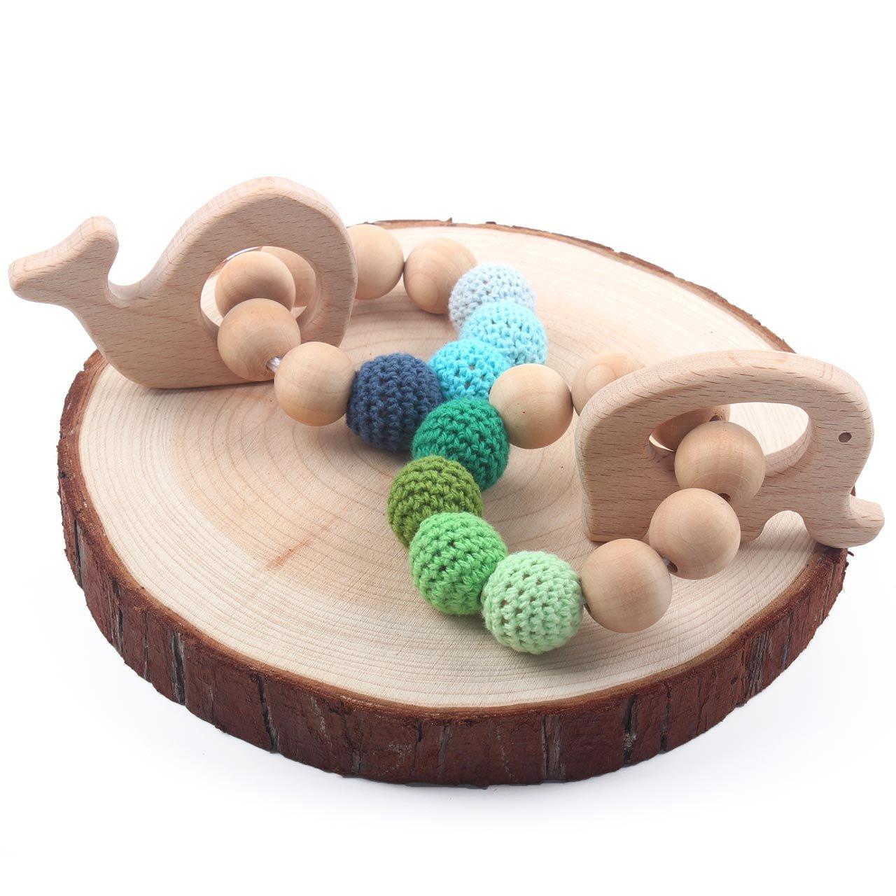 Amazon.com: HI BABY MOMENT - Pulsera de madera para ...