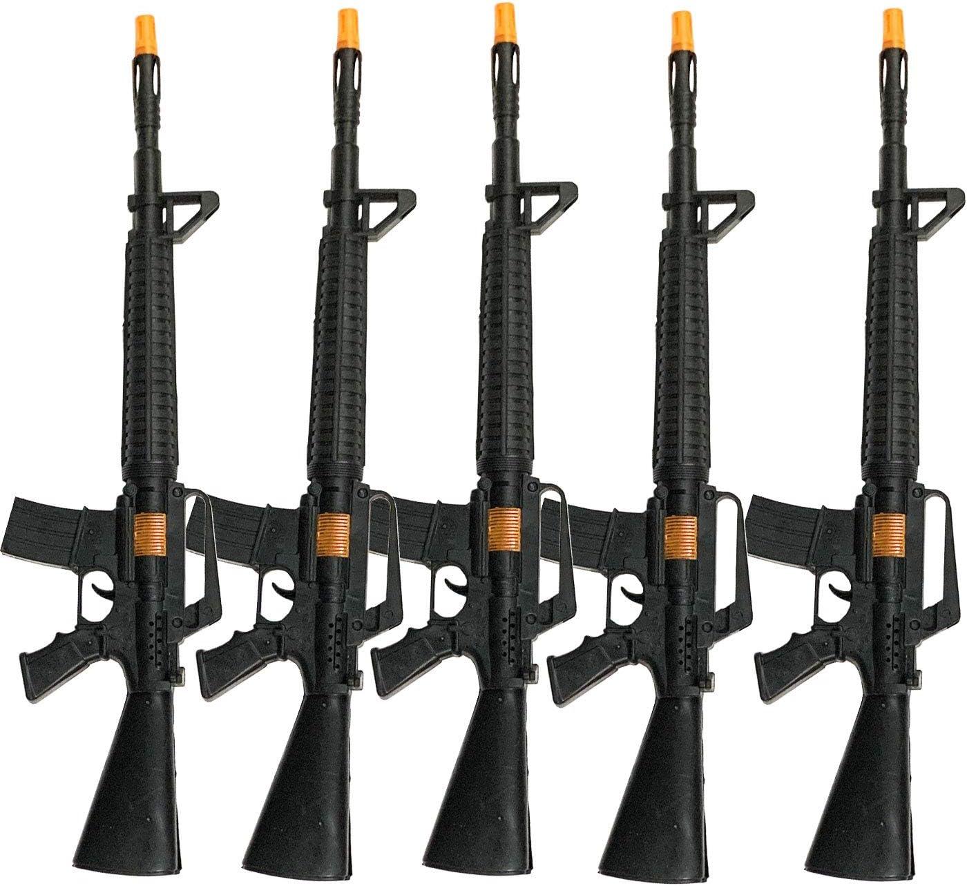 Bullycan Pack 5 Metralletas con Sonido en Color Negro 55.5 x 14 cm