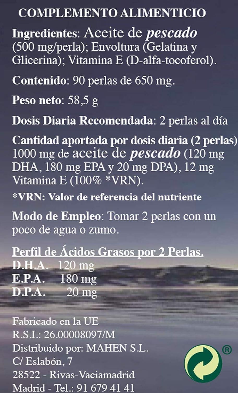 Mas Omegas 90 Perlas Mahen: Amazon.es: Salud y cuidado personal