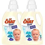 Le Chat Bébé Lessive Liquide Hypoallergénique - 1.5 L Lot de 2-50 lavages