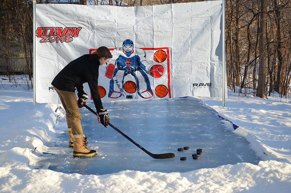 RAVE Sports Attack Zone 16' x 8' Hockey Shooting Tarp