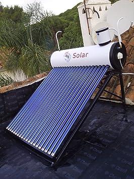Placa solar agua caliente, tipo termosifón de tubo vacío de 200 litros completo, incluido