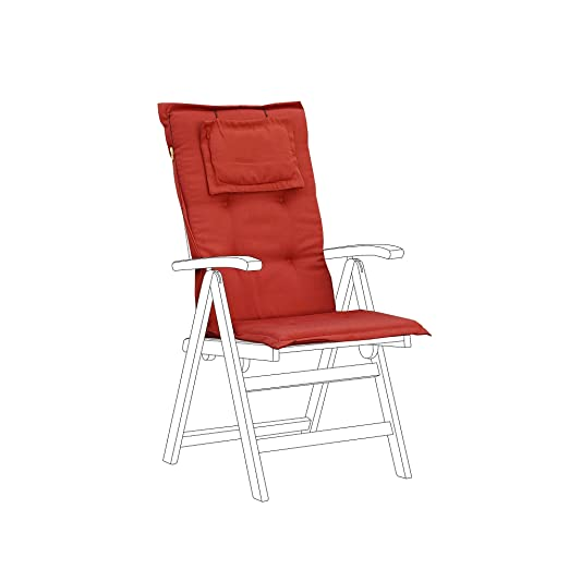Cojín para silla de jardín Toscana - Color terracota ...