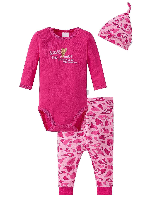 Schiesser Unterwäsche-Set Baby Mädchen, 3er Pack 159239
