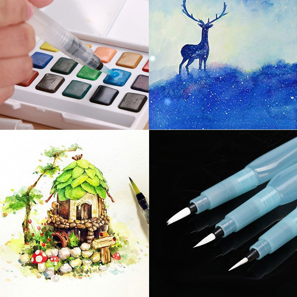 Alelife Refillable Pilot Water Brush Ink Pen for Painting Watercolor Drawing Pen Pencil by Alelife (Image #5)
