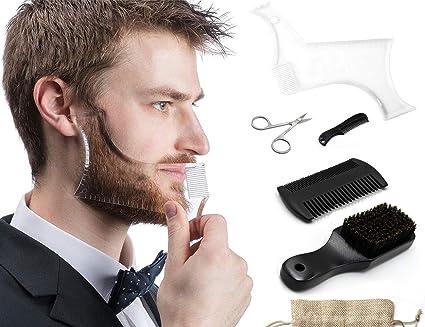IGEAKit de cuidado de barba 6 en 1 de IGEA, cepillo para barba ...