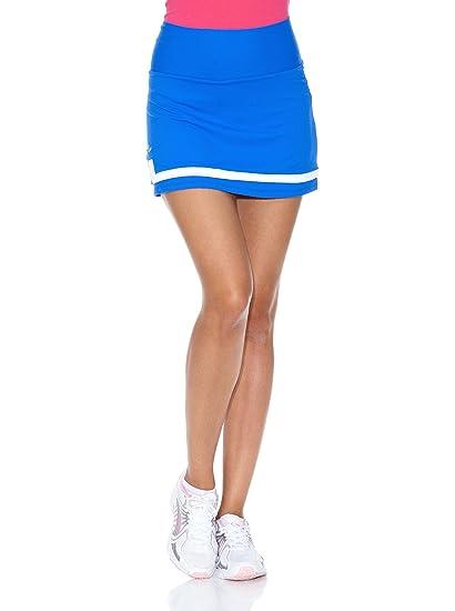 Naffta Falda Short Tenis/Padel Azul Francia/Blanco S: Amazon.es ...