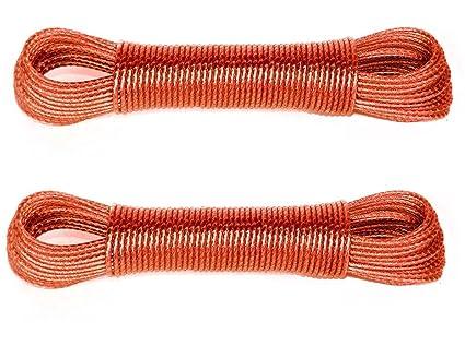 Sahaya Set Of 2 - 20 Meter Pvc Coated Steel Anti-Rust Wire Rope ...