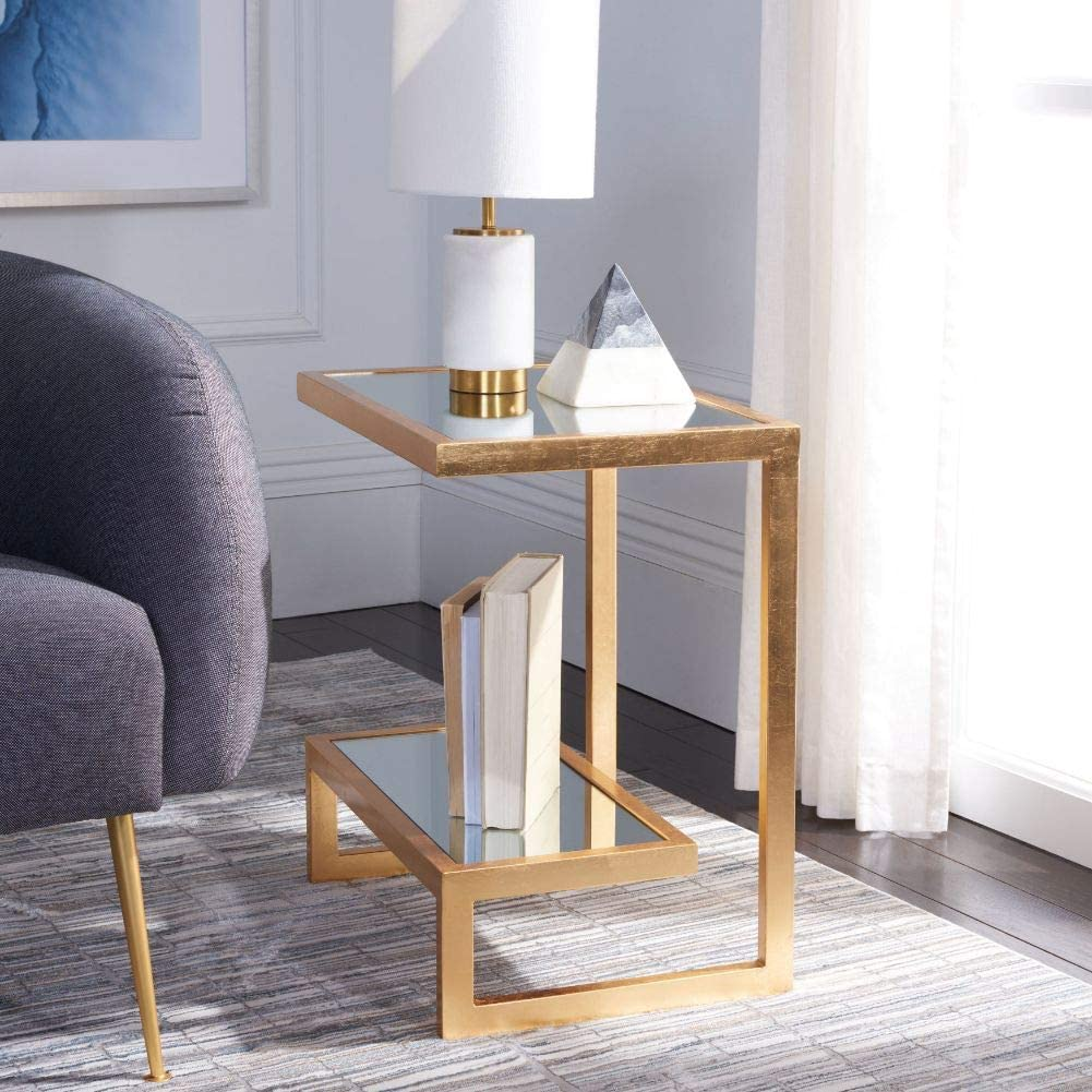 - Amazon.com: Safavieh Home Collection Kennedy Gold Accent Table