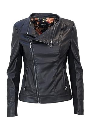 s Preston Noir Biker Amazon 38 18WWEW56 Desigual Femme CHAQ Veste 0tqAH