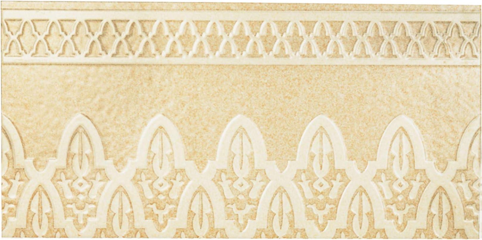 sch/öne Wand Dekoration im Bad /& K/üchenr/ückwand Orientalische Fliesenbord/üre marokkanische Bord/üre Rayhan 28 x 14 cm Mosaik Muster Maurische Ornamentfliesen Relieffliesen