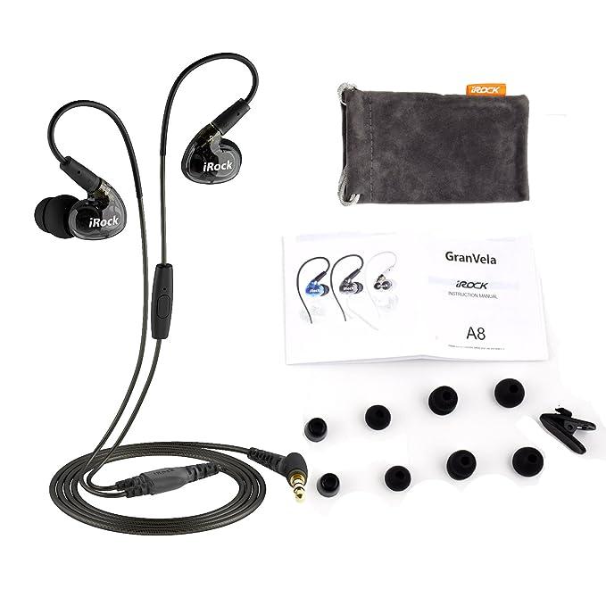 ... auriculares Sport estéreo con cable con micrófono y auriculares que aíslan el ruido, dinámico sonido Crystal Clear, ergonómico de ajuste cómodo para ...