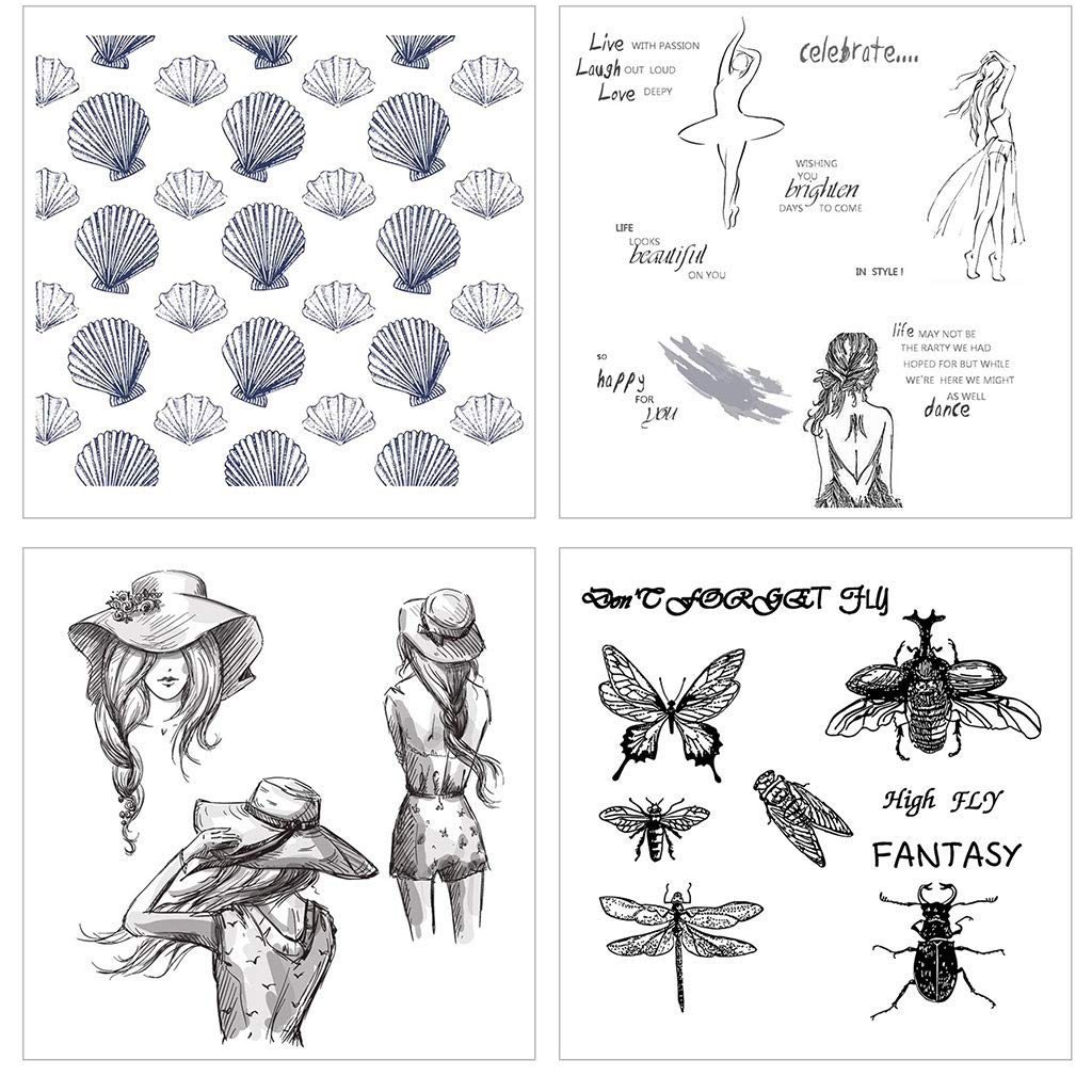 museourstyty Clear Silicone Stamp Insect Clear Stamp For Scrapbooking Transparent Silicone Rubber DIY Photo Album Decor
