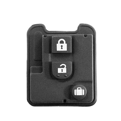 Goma 3 teclas Repuesto mando a distancia carcasa llave negro ...