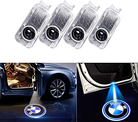 4 PCS LED Car Door MINI Logo Shadow Welcome Lights Projection 3D Laser Car Lamp
