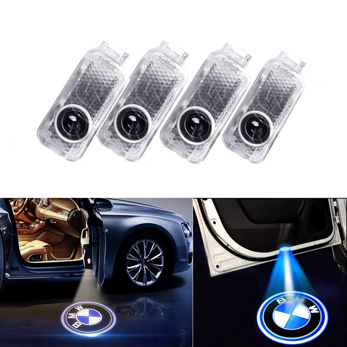 Luci per porte auto LED,Luce per porta auto Logo Light,di 3D Car Light Entry illuminazione lampada del proiettore di benvenuto Logo Light 4 pezzi AD