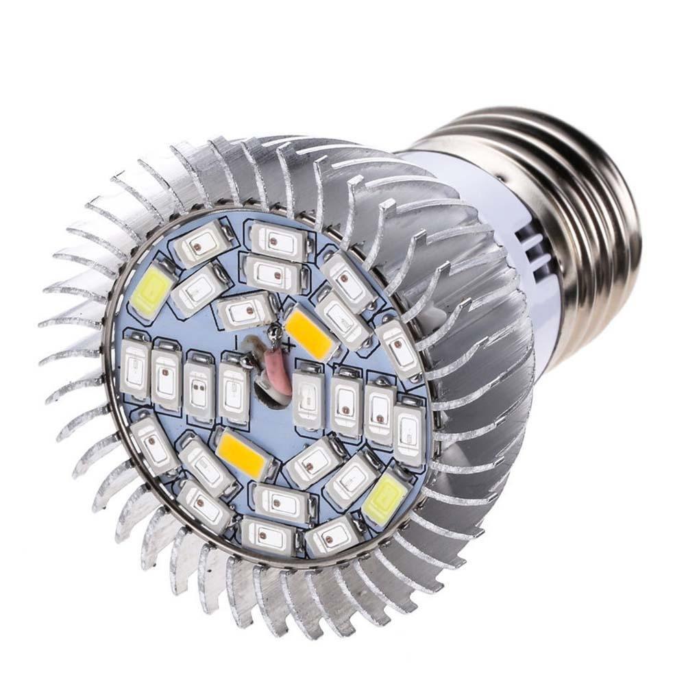 1 pieza E27 LED Grow luz lámparas bombilla flores verduras Hydro ...
